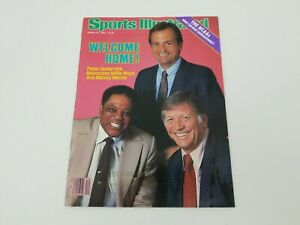 Sports Illustrated Magazine March 25, 1985 Willie Mays Mickey Mantle Ueberroth
