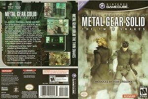 Metal Gear Solid the Twin Snakes NTSC Nintendo GameCube Replacement COVER ONLY