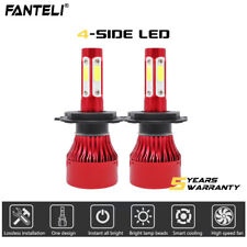 2018 H4 9003 HB2 2000W 300000LM CREE LED Headlight Kit Hi/Lo Beam Bulb HID 6000K