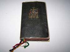 VINTAGE JESUS, MARY AND JOSEPH DAILY MISSAL WITH DUST COVER, COPYRIGHT 1962