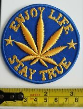 Cannabis Patch Marijuana Weed leaf Embroidered 100% Cotton  *BRAND NEW*