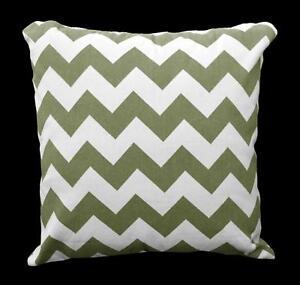 Pillow Cover*Zig Zag Cotton Canvas Sofa Seat Pad Cushion Case Custom Size*Ae