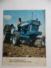 c.1969 2 3 4-Plow Ford Tractor Catalog Brochure 2000 3000 4000 5000 Vintage Orig
