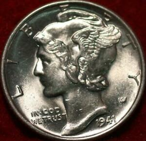 Uncirculated 1941 Philadelphia Mint Silver Mercury Dime