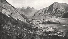 ISÈRE. Le Bourg D'oisans et la Chaine de Belledonne 1900 old antique print
