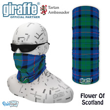 Flower Of Scotland Tartan Multifunctional Headwear Neckwarmer Snood Bandana