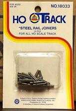 AHM 18033 HO steel rail joiners 24pc