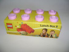NEW LEGO Brick 2011 Light PINK Lunch Box 8 CASE STORAGE BOX RETIRED Snacks Food
