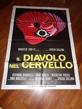 manifesto,,POSTER IL DIAVOLO NEL CERVELLO,SOLLIMA,SANDRELLI,RONET BRINI ART