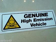 GENUINE HIGH EMISSION Car Van Sticker Decal 1 off 150mm