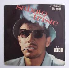 Adriano Celentano SABATO TRISTE LE NOTTI LUNGHE copertina apribile VINILE 45 gg