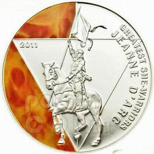 Togo 2011 Jeanne D'arc 500 Fr Colour Silver Coin,Proof