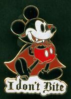 """DISNEY PIN Mickey Mouse Vampire """" I Don't Bite"""""""