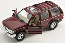 BLITZ VERSAND Ford Explorer bordeaux Welly Modell Auto 1:34 NEU & OVP