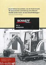 Prospekt Schaeff HR 13 Minibagger 2002 brochure mini excavator excavateur