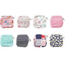 Randomly Mini Lady Storage Bag Purse Pouch Sanitary Napkins Pad Wallet Organizer