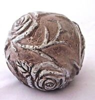 "Latex rose garden ball mold concrete plaster mould  3""W x 2.5""H"