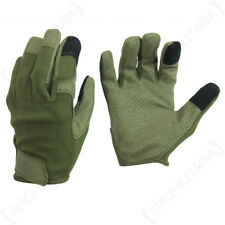 Olive Green Combat Touch Gloves - Army Military Touch Screen Phone All Sizes New