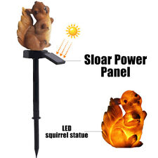 Waterproof Solar Power LED Light Garden Yard Lawn Squirrel Stake Ornament Lamp