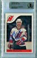 DEVILS KIRK MULLER signed autographed 1985-86 TOPPS ROOKIE CARD RC BECKETT (BAS)