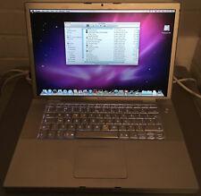 "Apple MacBook Pro 15.4"" A1150 2006 Intel Core Duo 2.16Ghz 2GB 100GB Snow Leopard"