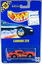 Hot Wheels Collector #33 Camaro Z-28 Orange With BW's MOC 1991