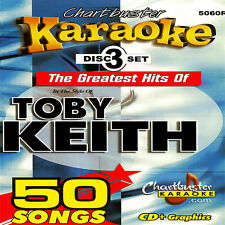 Toby Keith Greattest Hits Karaoke Chartbuster 3 CD+G in Case With Song List 5060