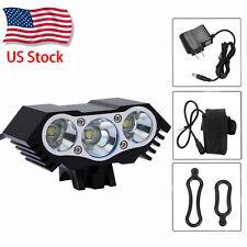 Super Bright 10000Lm 3x CREE XM-L T6 LED Front Headlight Bicycle Lamp Bike Light
