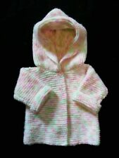 New listing Hand Knit Baby Girl Hoodie Sweater in Pastels