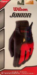 Wilson Junior - Left Hand Golf Glove Black/Red Size Large