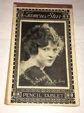 May McAvoy Famous Star Pencil Tablet Silent Film Star Al Jolson Ben Hur Rare