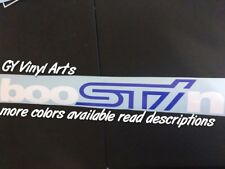 Subaru Sti Front Windshield Decal Car Sticker Banner Window Graphic Wrx