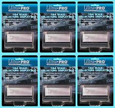 6 ULTRA PRO 1:64 SCALE DIECAST DISPLAY CASE Mirror Back Beveled Lid Car Holder