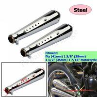 Motorcycle Stainelss Steel Exhaust Muffler Vent Pip For Cafe Racer Bobber Custom