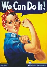"TARGA VINTAGE ""WE CAN DO IT"" Pubblicità, Advertising, Poster, Plate, Art Retro"