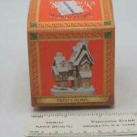 "David Winter Cottages ""Fred's Home"" Christmas Ornament 1992"