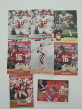 Joe Montana Football Card Lot (8) SF 49ers and KC Chiefs HOF!!!