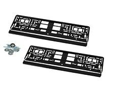 2 x Kennzeichenhalter Nummernschildhalter Hochglanz Schwarz für Nissan