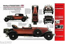 Rolls-Royce PHANTOM 1 (I) SPEC SHEET / Brochure: 1927,1928,1929,........