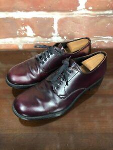 $800 Prada Ox Blood Patent Leather Derby 1980s English British Punk Size 10 D