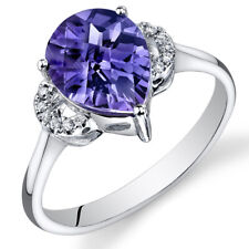14 Kt White Gold 3 cts Alexandrite and Diamond Ring R61578