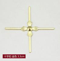 100PCS  chandelier lamp parts crystal bead metal connector bowtie Cross buckle