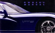 1996 Dodge Viper GTS Coupe Owners Manual User Guide Reference Operator Book OEM