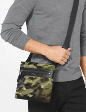 MICHAEL KORS 2018 Kent Camouflage Crossbody TABLET Man Bag Flight Messenger SALE