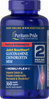 Puritans Pride Triple Strength Glucosamine Chondroitin MSM Joint Soother 360Caps