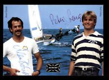 Albert Batzill und Peter Lang Autogrammkarte Original Signiert Segeln + A 186599