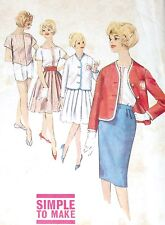 Simplicity 4303 Pattern VTG 60s Pleated Skirt Jacket Shorts Complete Cut Size 11