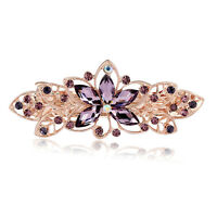 Vintage Korean Elegant Crystal Purple Rhinestone Women Lady Hair pin Accessories
