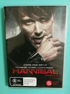Hannibal Season 3 DVD R18+ R4 5 disc set VGC