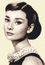 AUDREY HEPBURN complete counted cross stitch kit - all materials included